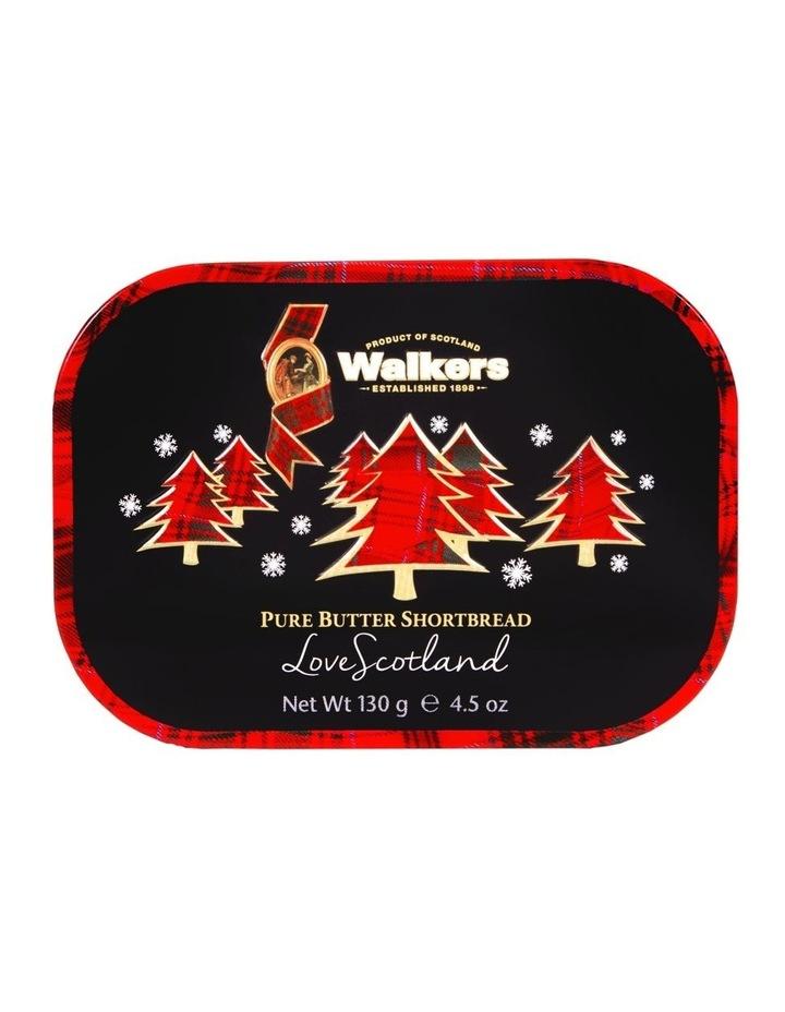 Christmas Trees Festive Keepsake Tin Thistle Shortbread Rounds 130g image 1