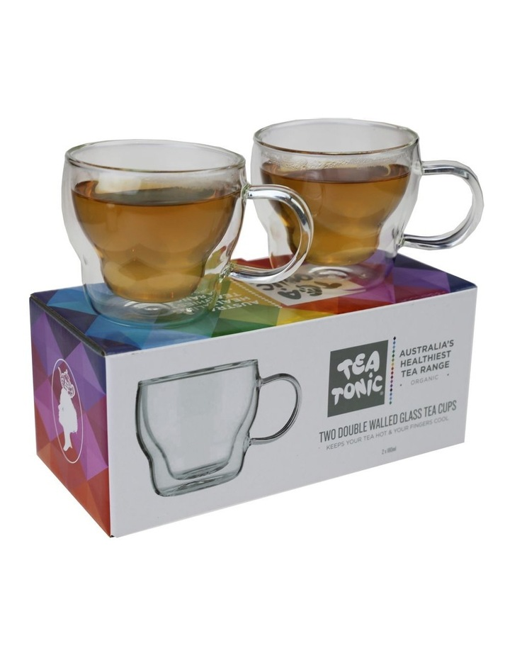 Tea Tonic Two Double Walled Glass Teacups image 1
