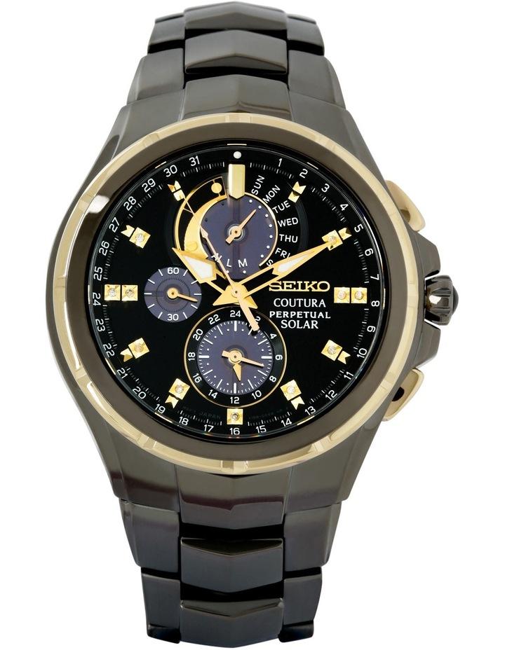 Ssc573P Black & Gold Coutura Solar Chronograph Sports/Dress Watch image 1