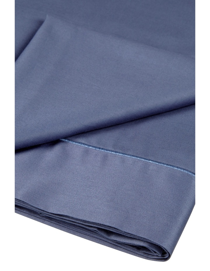 400 Thread Count Soft & Silky Egyptian Cotton Flat Sheet in Navy image 2