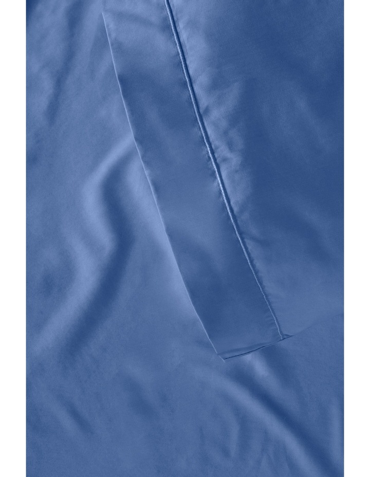 400 Thread Count Soft & Silky Egyptian Cotton Flat Sheet in Navy image 3