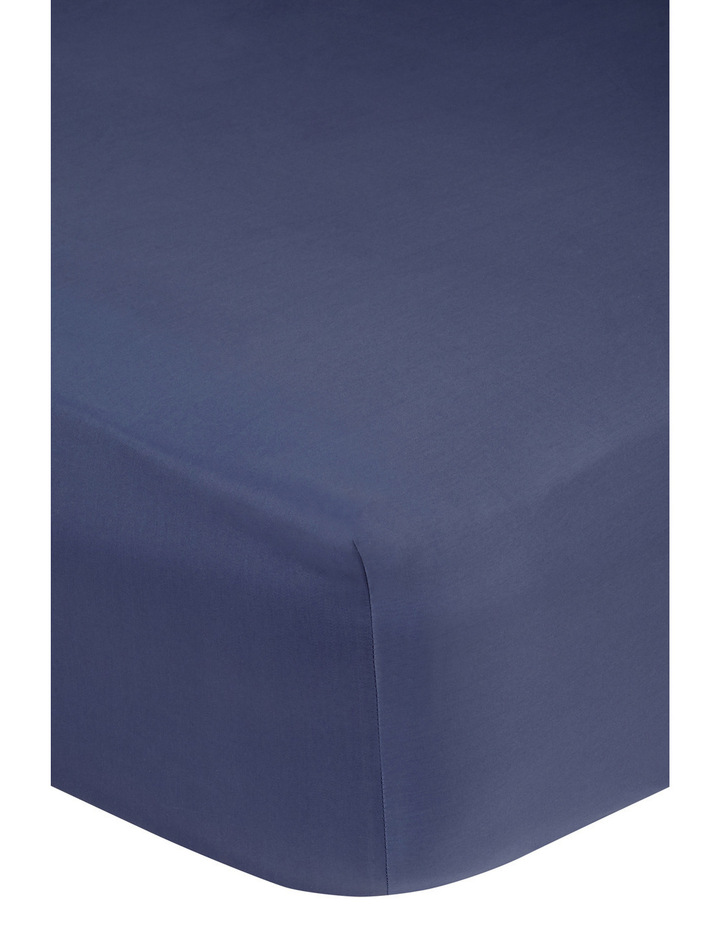 400 Thread Count Soft & Silky Egyptian Cotton Deep Fitted Sheet in Navy image 2