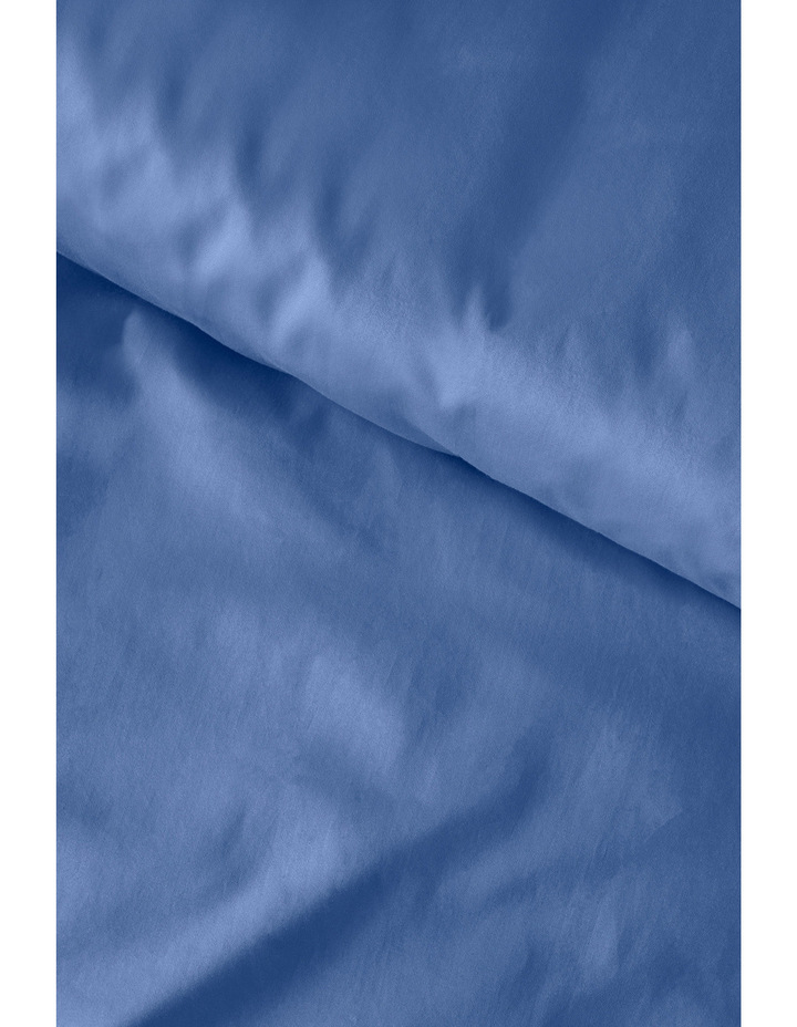 400 Thread Count Soft & Silky Egyptian Cotton Deep Fitted Sheet in Navy image 3
