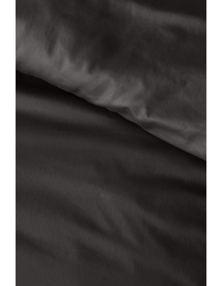 400 Thread Count Soft & Silky Egyptian Cotton Flat Sheet in Dark Grey image 3
