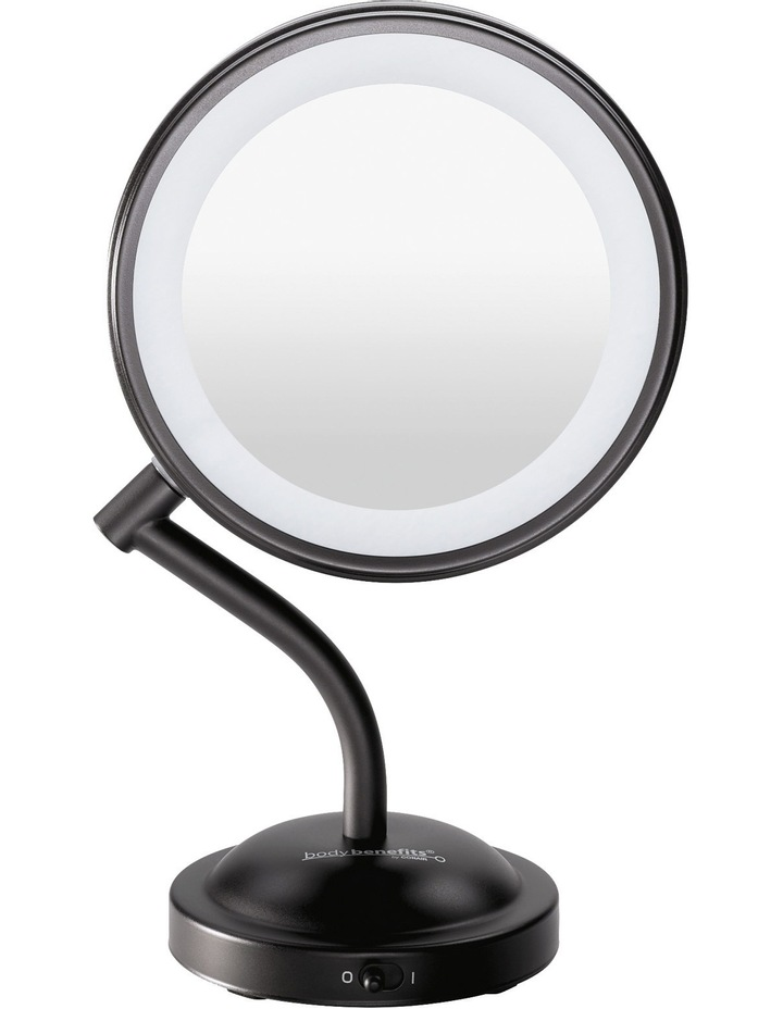 Adorn LED lighted mirror Matt Black CBE4MBA image 1