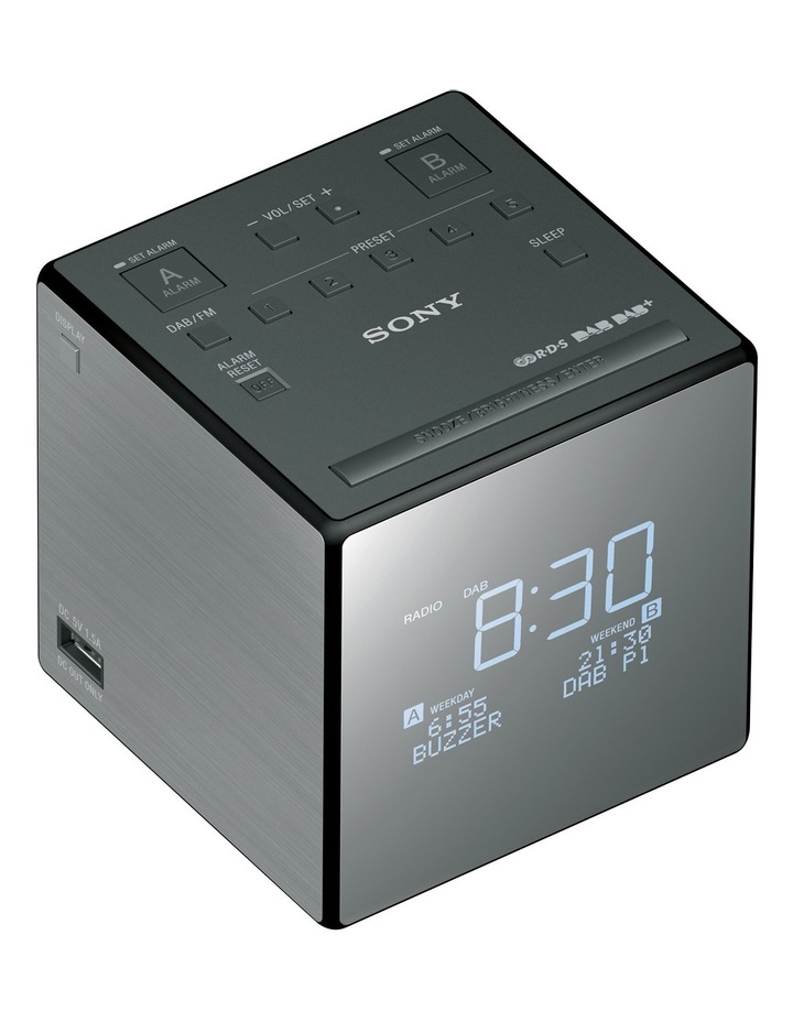 Digital DAB  Alarm Clock Radio - Black image 1