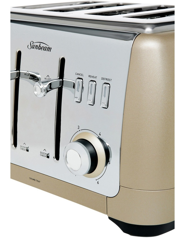 London Collection 4 slice toaster TA2240CP Champagne. image 3