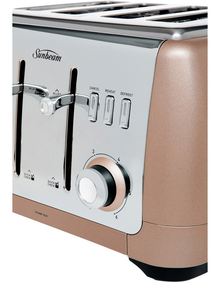 London Collection 4 slice toaster: Rose Bronze TA2240BZ image 3