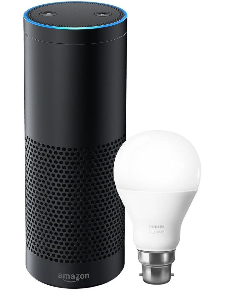 Echo Plus with Bonus Philips Hue Bulb (B22 Bayonet) - Black image 1