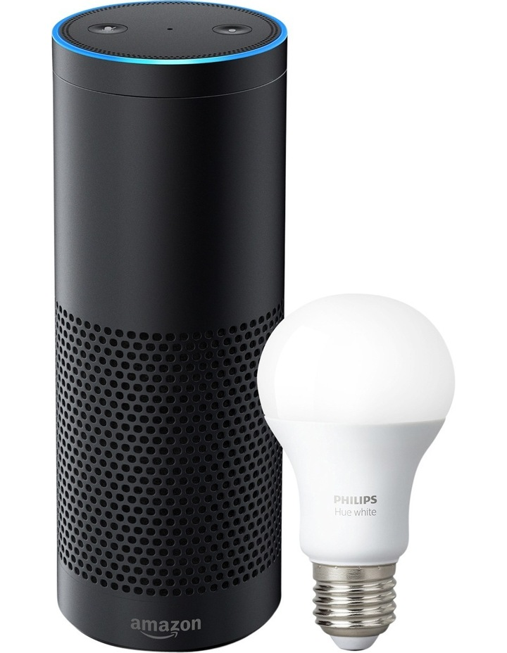 Amazon Echo Plus with Bonus Philips Hue Bulb (E27 Edison Screw) - Black image 1