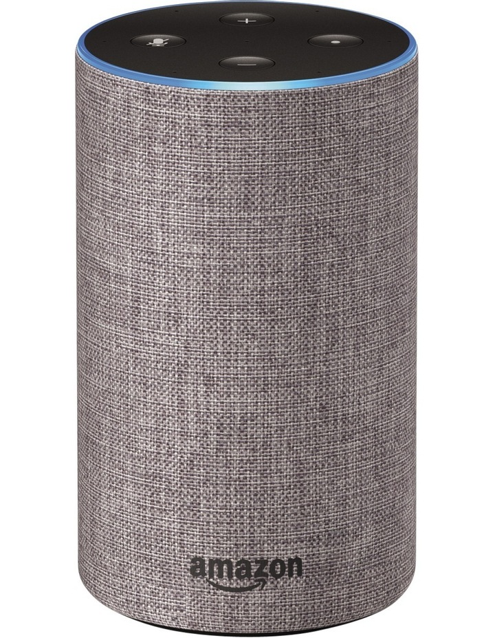 Amazon Echo (2nd generation) - Heather Grey Fabric image 1