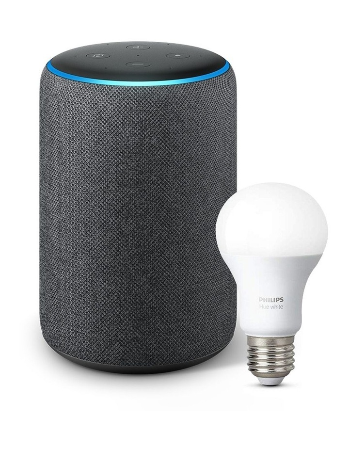 Echo Plus (2nd Gen) Charcoal W' Bonus Philips Hue E27 Bulb image 1