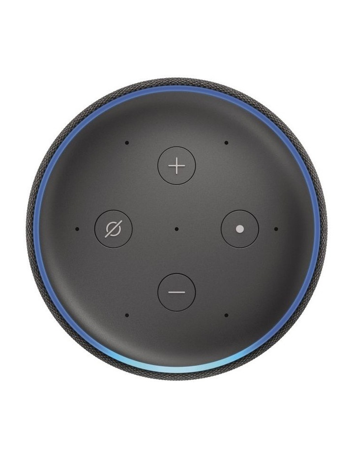 Echo (3rd Gen) Smart Speaker with Alexa - Charcoal Fabric image 2