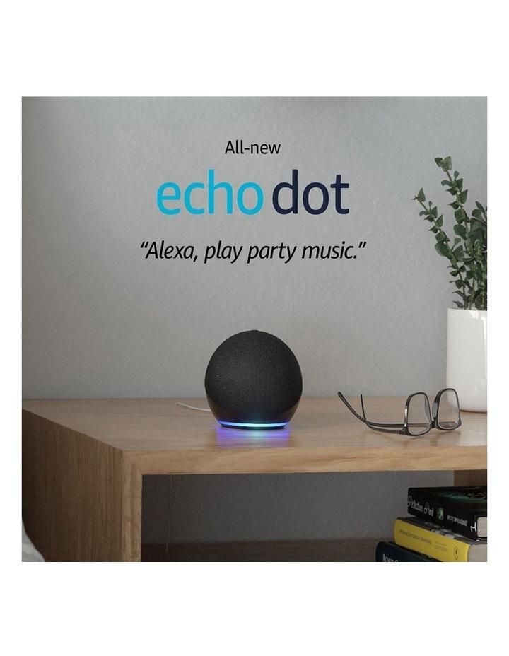 Amazon Echo Dot with Alexa (4th Gen) Charcoal image 2