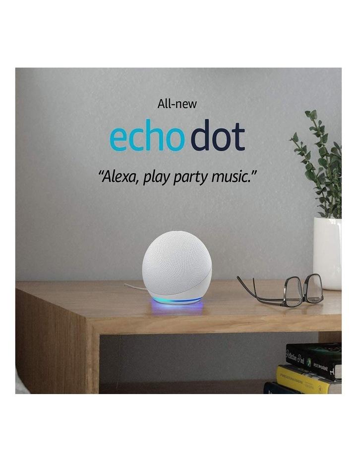 Amazon Echo Dot with Alexa (4th Gen) Glacier white image 2