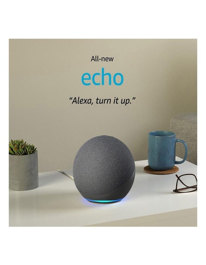 Amazon Echo with Alexa (4th Gen) Charcoal image 1