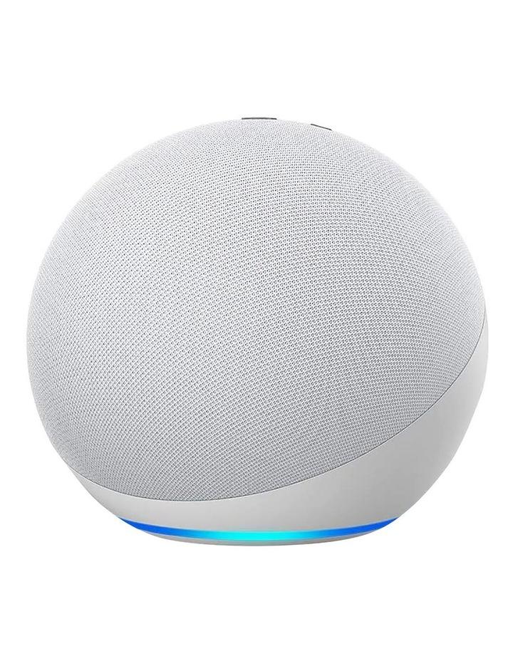 Amazon Echo with Alexa (4th Gen) Glacier white image 1
