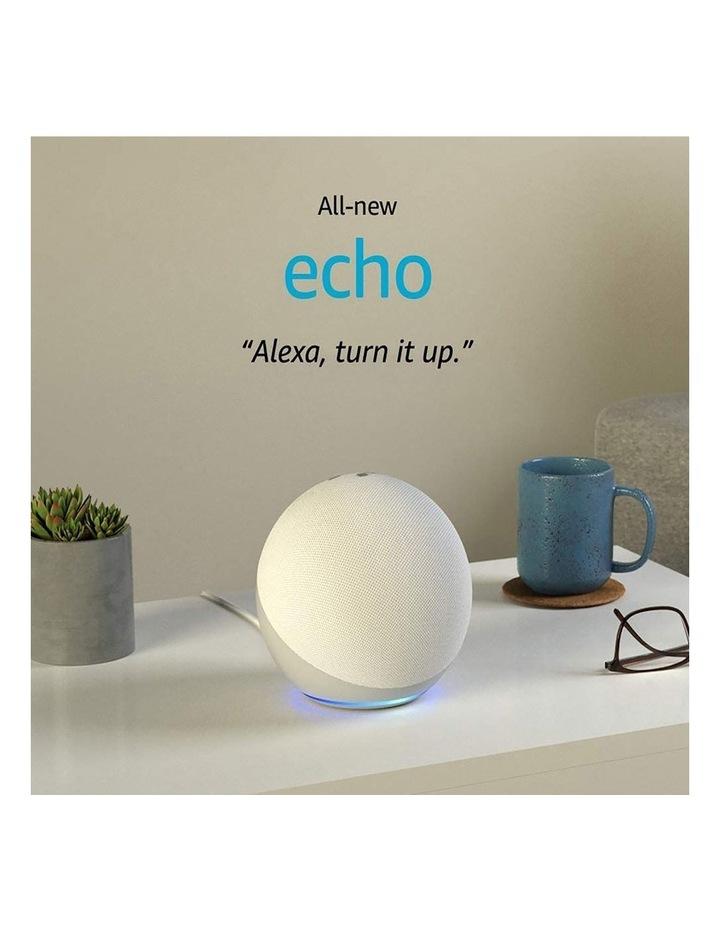 Amazon Echo with Alexa (4th Gen) Glacier white image 2