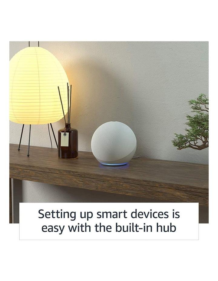 Amazon Echo with Alexa (4th Gen) Glacier white image 3
