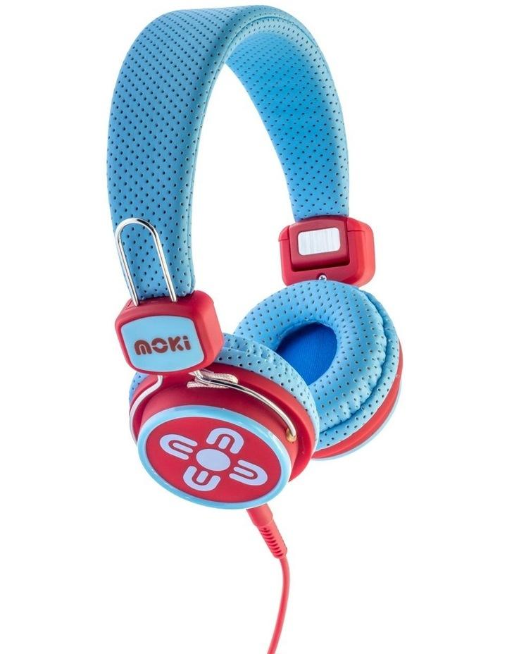 Kids Safe Volume Limited Headphones Blue/Red image 2