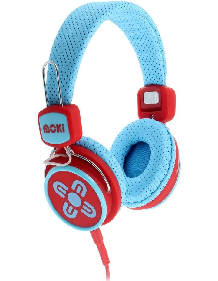 Kids Safe Volume Limited Headphones Blue/Red image 1