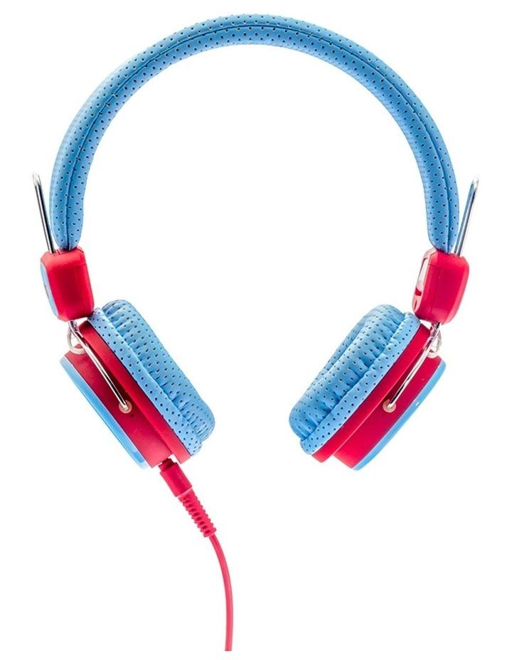 Kids Safe Volume Limited Headphones Blue/Red image 3