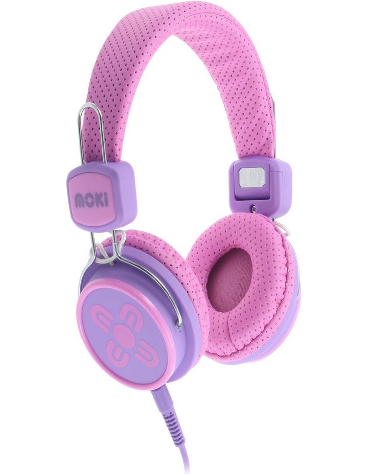 Kids Safe Volume Limited Headphones Pink/Purple image 1