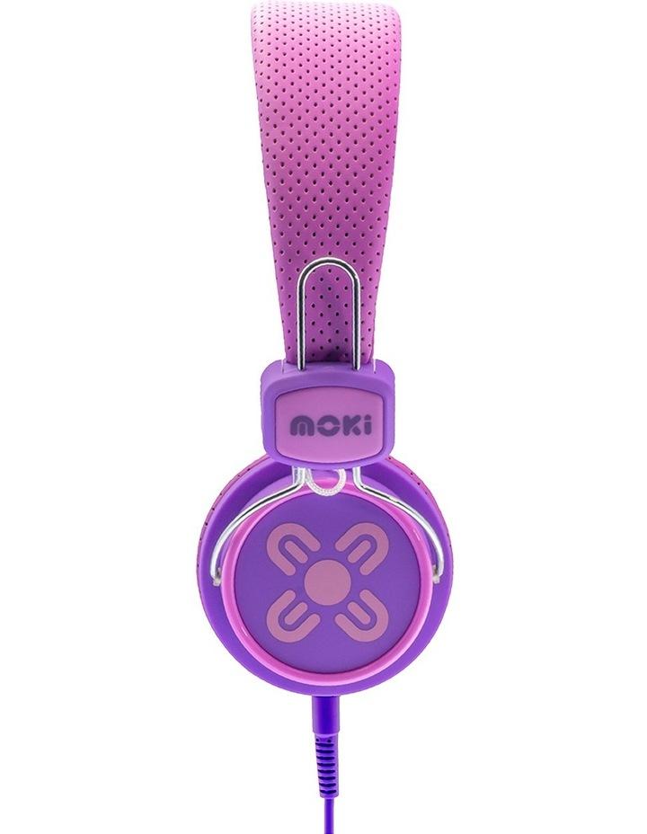 Kids Safe Volume Limited Headphones Pink/Purple image 3