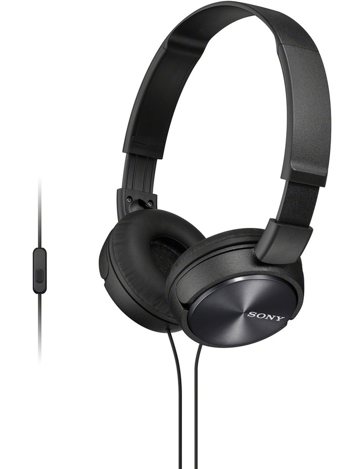 Sony MDRZX310APB On-Ear Headphones: Black image 1
