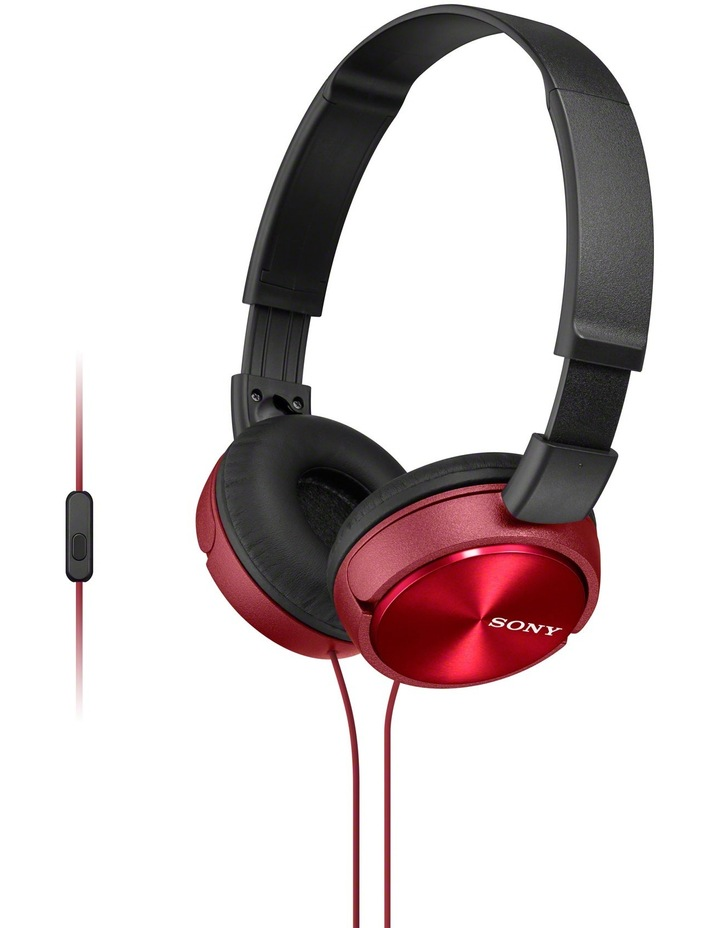 Sony MDRZX310APR On-Ear Headphones: Red image 1