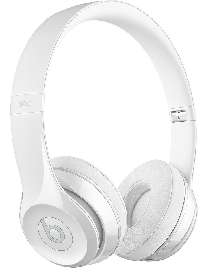 Solo 3 Wireless On-Ear Headphones - Gloss White image 1