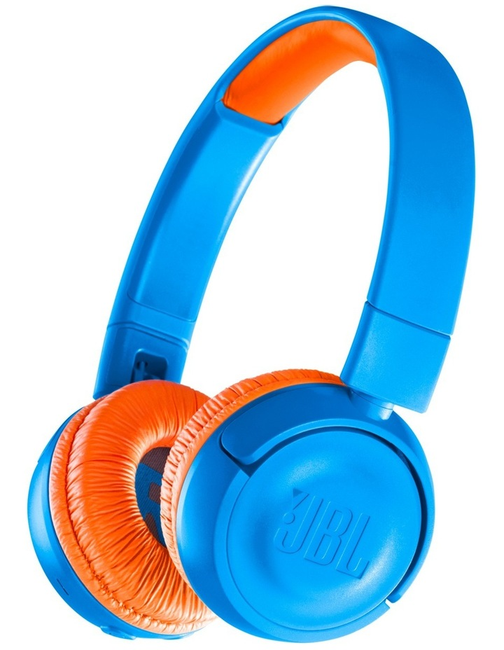 JR300 Kids Bluetooth On-Ear Headphones - Blue / Orange image 1
