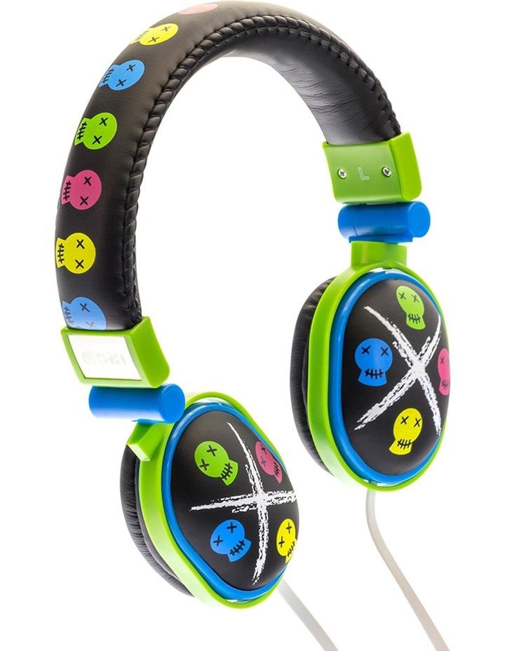 Popper Kids On-Ear Headphones - Skull Black image 3