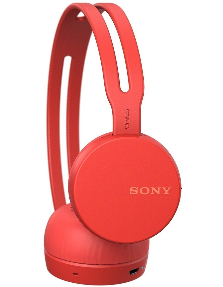 Wireless On Ear Headphones Red image 2
