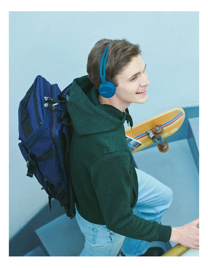 Wireless On Ear Headphones Blue image 4