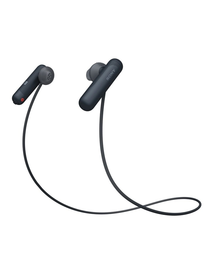 Wireless Sports In-Ear Headphones Black WISP500B image 1