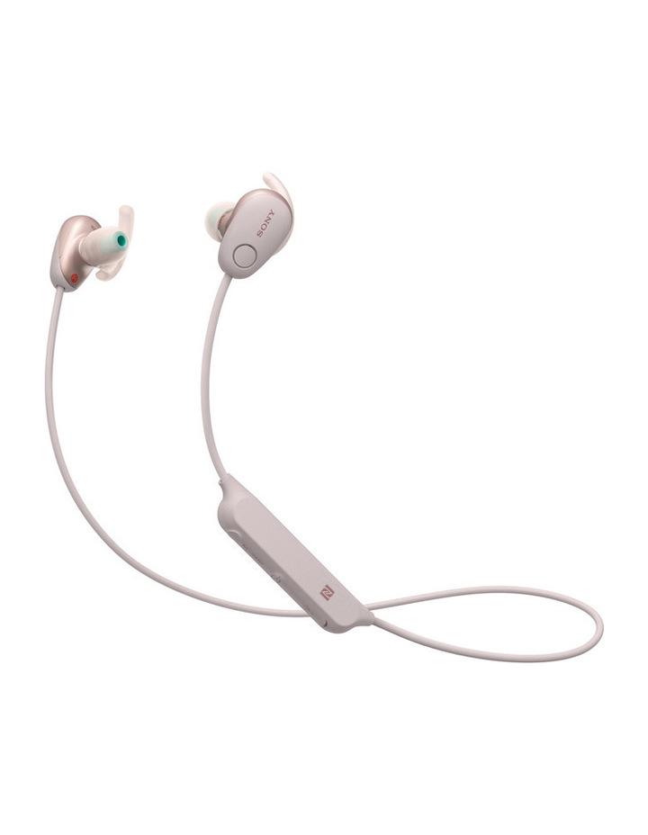 Wireless Sports in-ear Head Phones Pink WISP600NP image 1