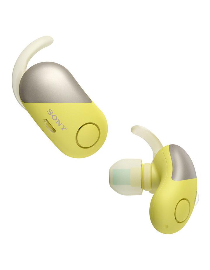 Wireless Sports in-ear Head Phones Yellow WFSP700NY image 1