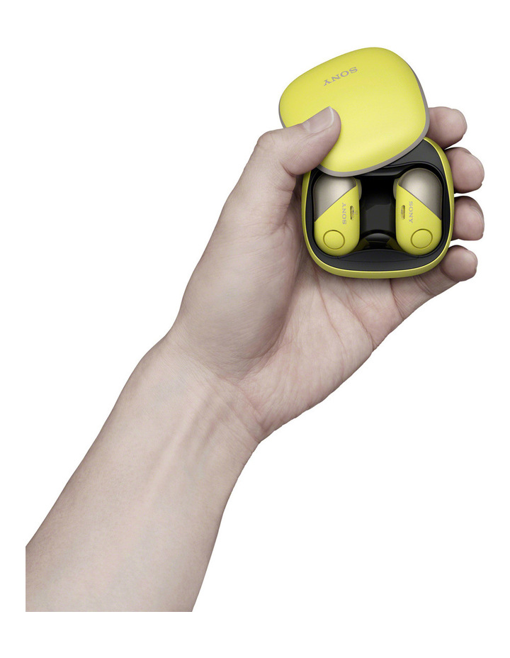 Wireless Sports in-ear Head Phones Yellow WFSP700NY image 3