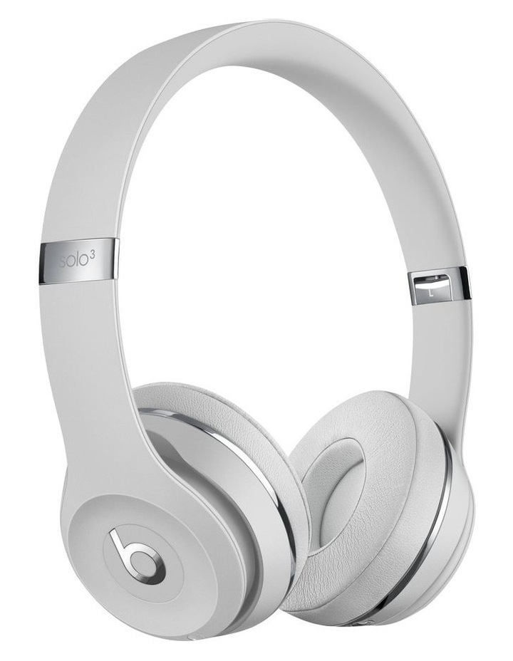 Beats Solo3 Wireless On-Ear Headphones Satin Silver MX452PA/A image 1