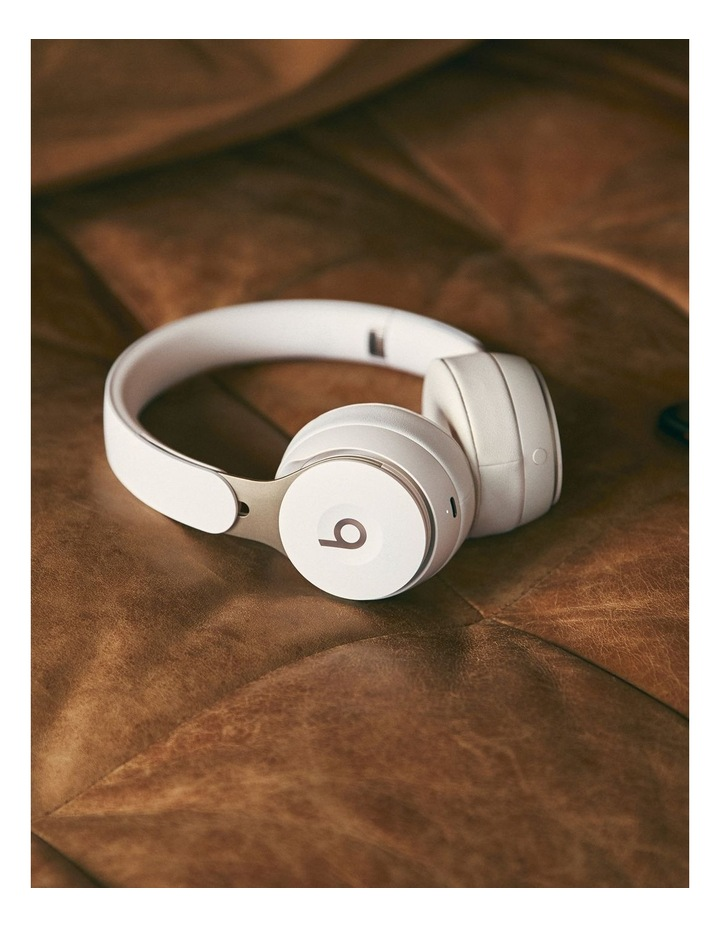 Solo Pro Wireless Noise Cancelling On-Ear Headphones Ivory image 5