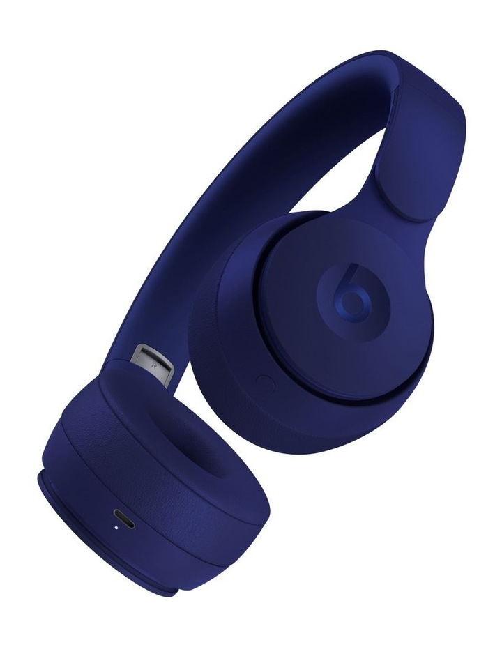 Solo Pro Wireless Noise Cancelling On-Ear Headphones - More Matte Collection Dark Blue image 3