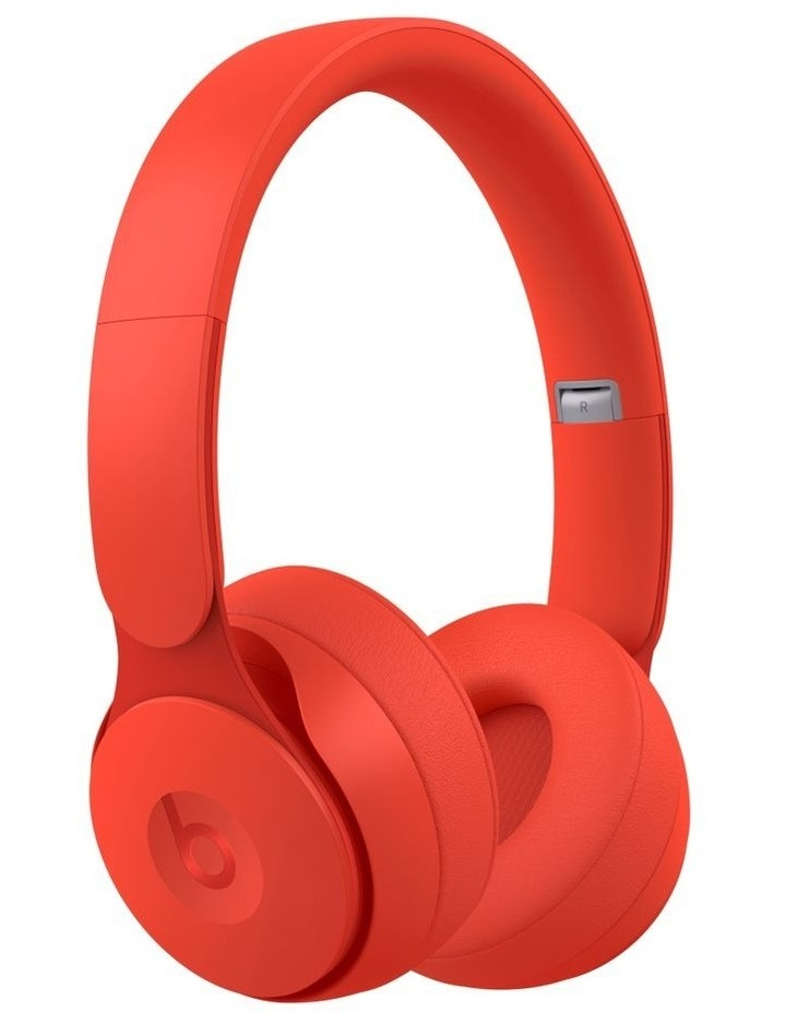 Solo Pro Wireless Noise Cancelling On-Ear Headphones - More Matte Collection Red image 1