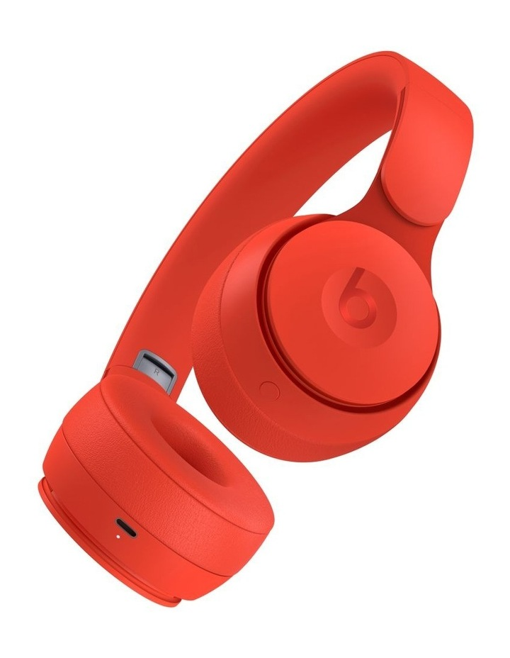 Solo Pro Wireless Noise Cancelling On-Ear Headphones - More Matte Collection Red image 3