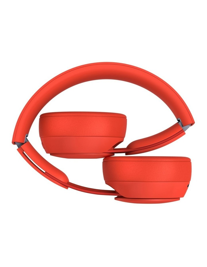 Solo Pro Wireless Noise Cancelling On-Ear Headphones - More Matte Collection Red image 4