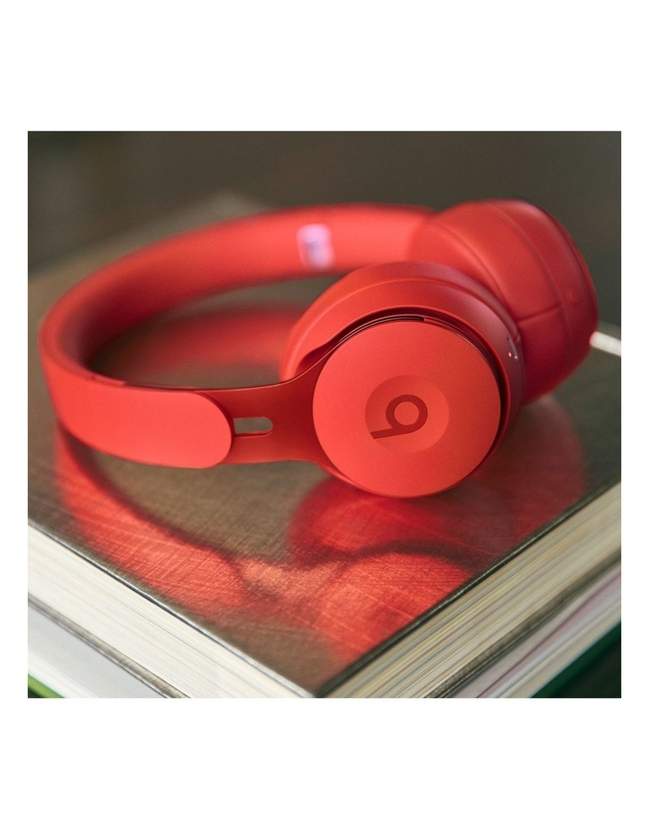 Solo Pro Wireless Noise Cancelling On-Ear Headphones - More Matte Collection Red image 5