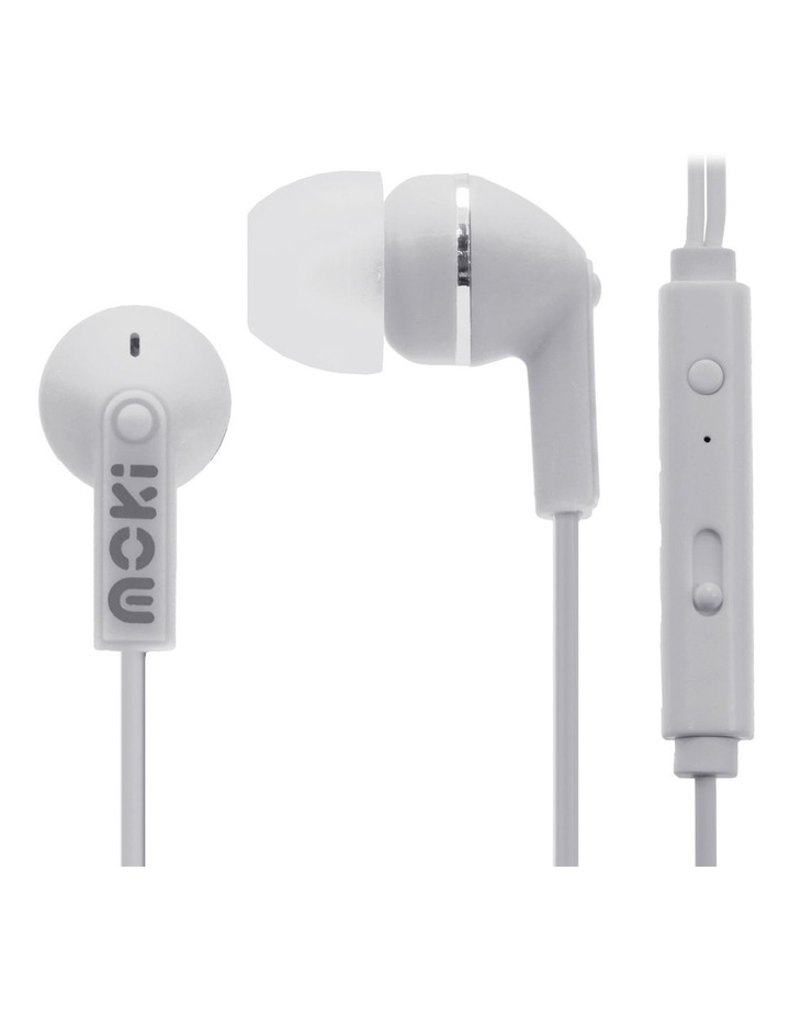 Noise Isolation Earbuds With Microphone & Control - White image 1