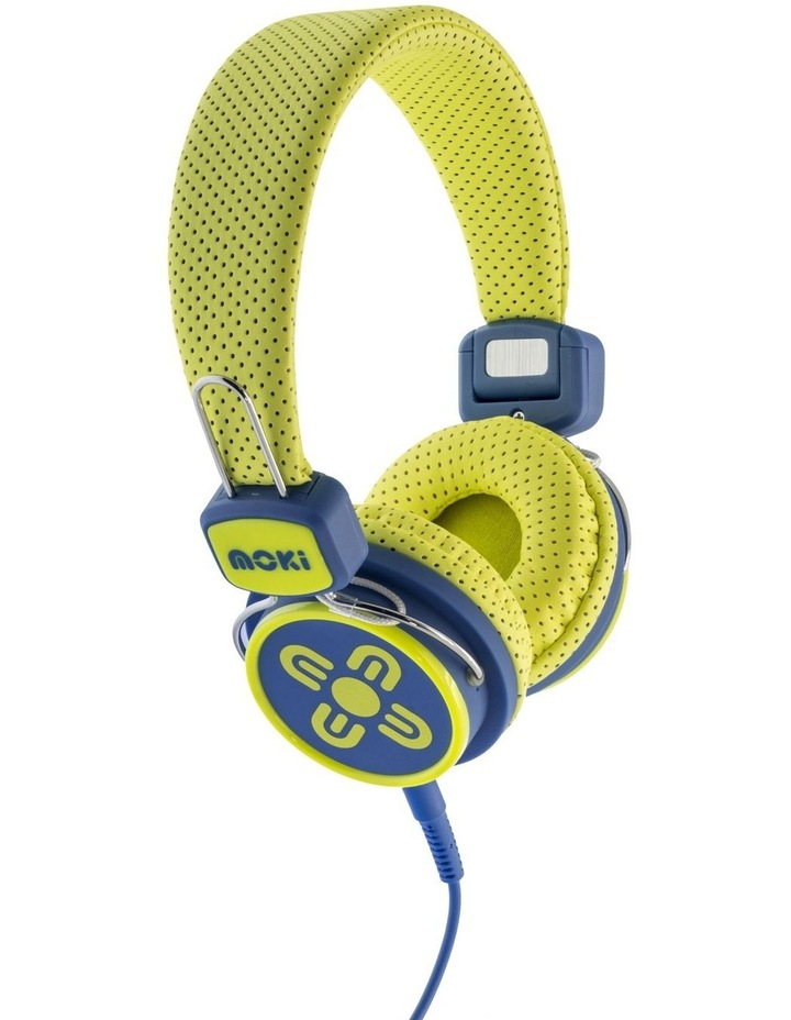 Kids Safe Volume Limited Headphones - Yellow/Blue image 1