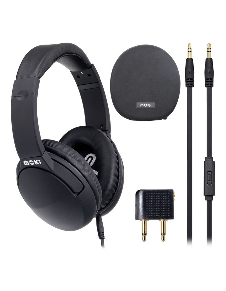 Noise Cancellation Headphones - Black image 2
