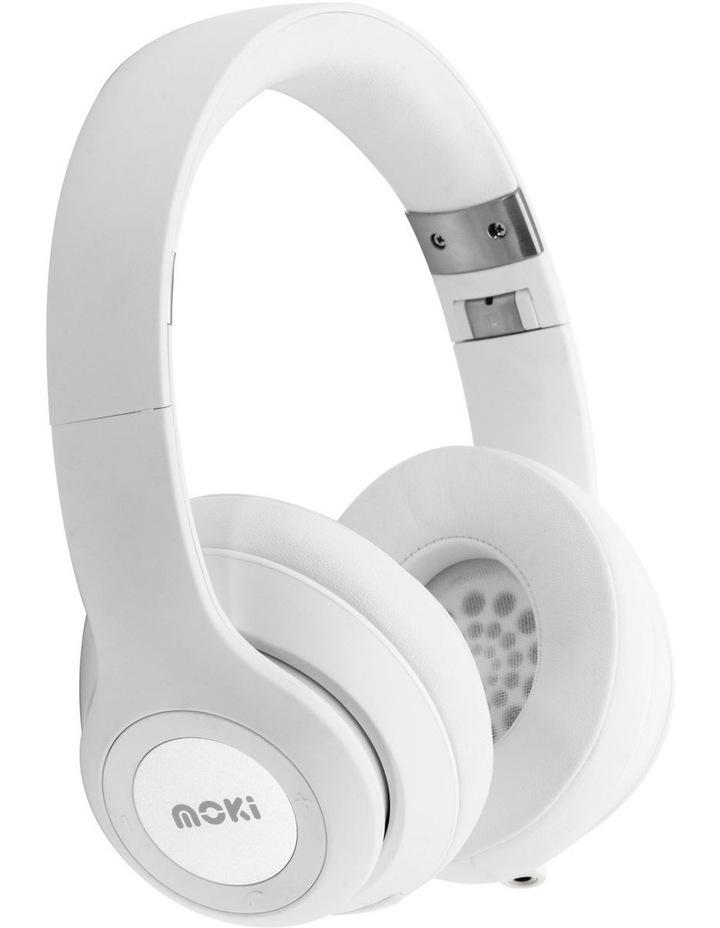 Moki ACC HPKATW Katana Bluetooth Headphones - White image 1